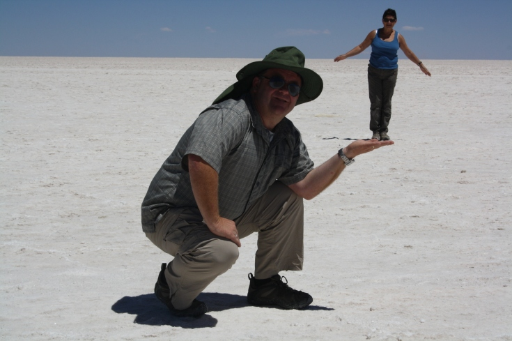 The salt flats are so vast